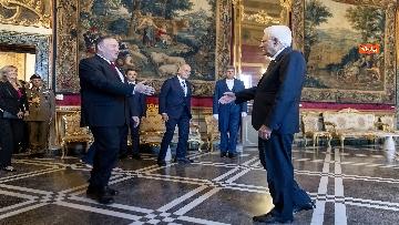 2 - Mattarella riceve al Quirinale il Segretario di Stato degli Stati Uniti d'America, Michael Pompeo