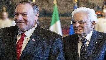 6 - Mattarella riceve al Quirinale il Segretario di Stato degli Stati Uniti d'America, Michael Pompeo