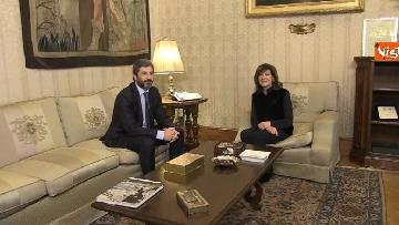 3 - Primo incontro ufficiale tra Fico e Casellati, i Presidenti al Senato