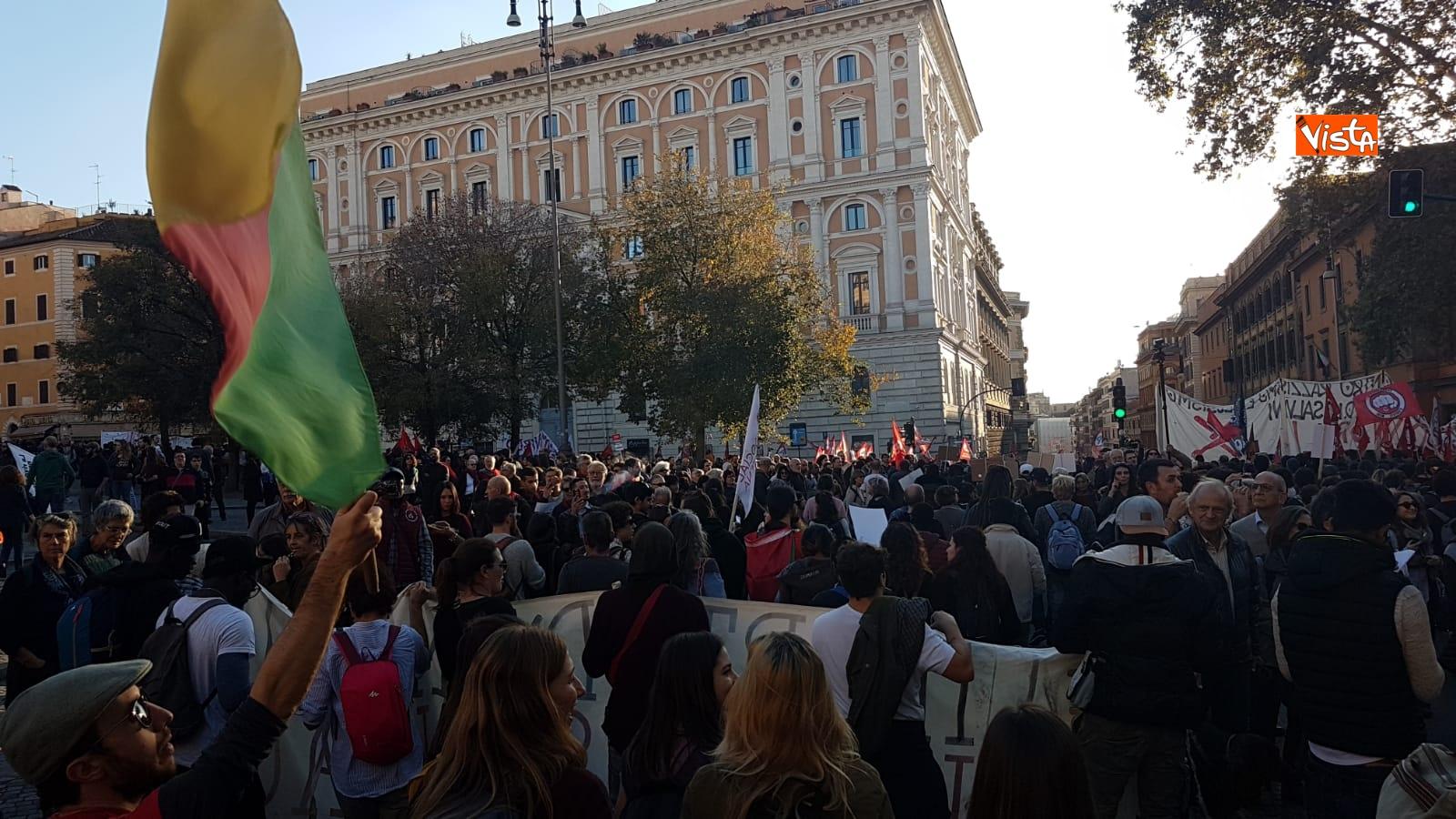 La manifestazione contro il dl Salvini a Roma