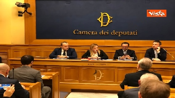 9 - Consigliere regione Lazio Aurigemma passa a FdI, immagini conferenza