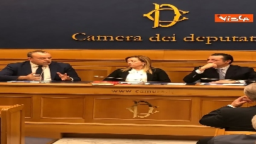 3 - Consigliere regione Lazio Aurigemma passa a FdI, immagini conferenza