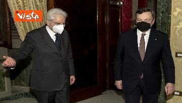 1 - Governo, Draghi arrivato al Quirinale per sciogliere la riserva