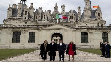 1 - Italia-Francia, Mattarella e Macron insieme al castello di Chambord