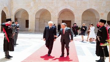 3 - Il Presidente Mattarella al Palazzo Reale ricevuto da Sua Maestà, il Re Abdullah II