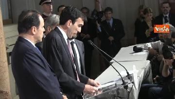 8 - Consultazioni, il Pd al Quirinale guidato da Martina, Orfini, Delrio e Marcucci