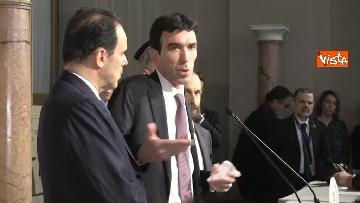 13 - Consultazioni, il Pd al Quirinale guidato da Martina, Orfini, Delrio e Marcucci