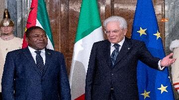 4 - Mattarella incontra il Presidente del Mozambico al Quirinale