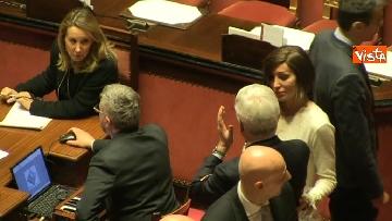 5 - Le prime votazioni per il presidente del Senato con Renzi, Salvini, Iwobi, Segre, Casini, Bossi, Bernini, Bonino, Galliani, Bongiorno, Martelli