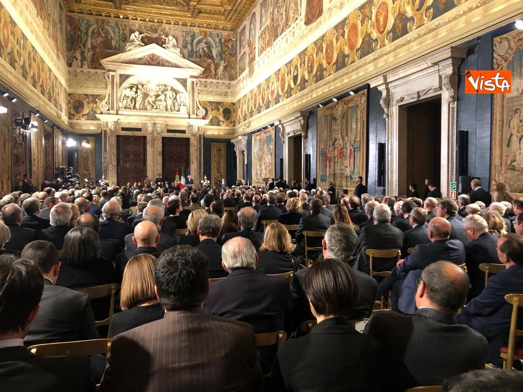 19-12-18 Al Quirinale la cerimonia per lo scambio degli auguri di fine anno del Presidente della Repubblica Sergio Mattarella