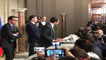 4 - Salvini al Quirinale dopo le consultazioni immagini