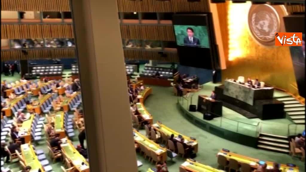 Il premier Conte interviene all'Assemblea Generale delle Nazioni Unite