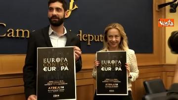 1 - Meloni presenta Atreju 2018, la 21esima edizione dal titolo ''Europa contro Europa''
