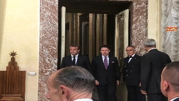 13 - Conte e Macron in conferenza stampa a Palazzo Chigi