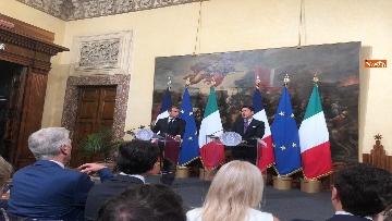 8 - Conte e Macron in conferenza stampa a Palazzo Chigi