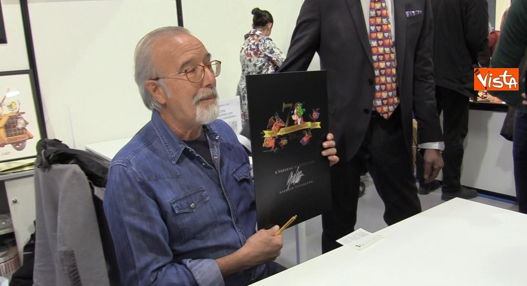 Il fumettista Giorgio Cavazzano all'inaugurazione di Milanofil 2019_02