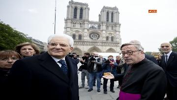 1 - Mattarella visita la Cattedrale di Notre-Dame a Parigi