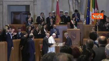 5 - Papa Francesco in Campidoglio, l'intervento in Aula Giulio Cesare
