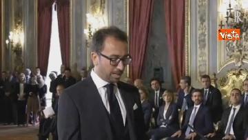 6 - Il giuramento di Bonafede, Ministro della Giustizia