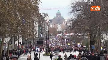 1 - 60mila in marcia per il clima a Bruxelles