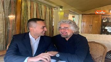 5 - Di Maio incontra Beppe Grillo all'Hotel Forum a Roma