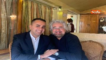 3 - Di Maio incontra Beppe Grillo all'Hotel Forum a Roma