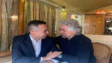 8 - Di Maio incontra Beppe Grillo all'Hotel Forum a Roma