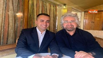 6 - Di Maio incontra Beppe Grillo all'Hotel Forum a Roma