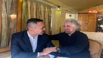 2 - Di Maio incontra Beppe Grillo all'Hotel Forum a Roma