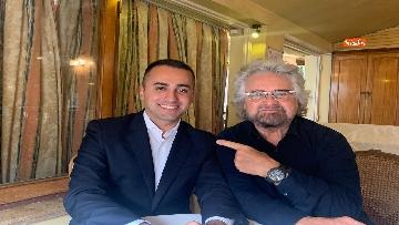 7 - Di Maio incontra Beppe Grillo all'Hotel Forum a Roma