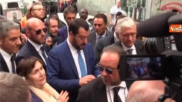 1 - Salvini a Napoli per il comitato di sicurezza tra contestatori e sostenitori