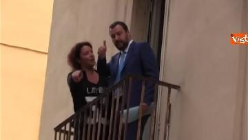 3 - Salvini a Napoli per il comitato di sicurezza tra contestatori e sostenitori