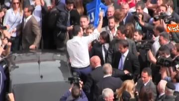 12 - Salvini a Napoli per il comitato di sicurezza tra contestatori e sostenitori