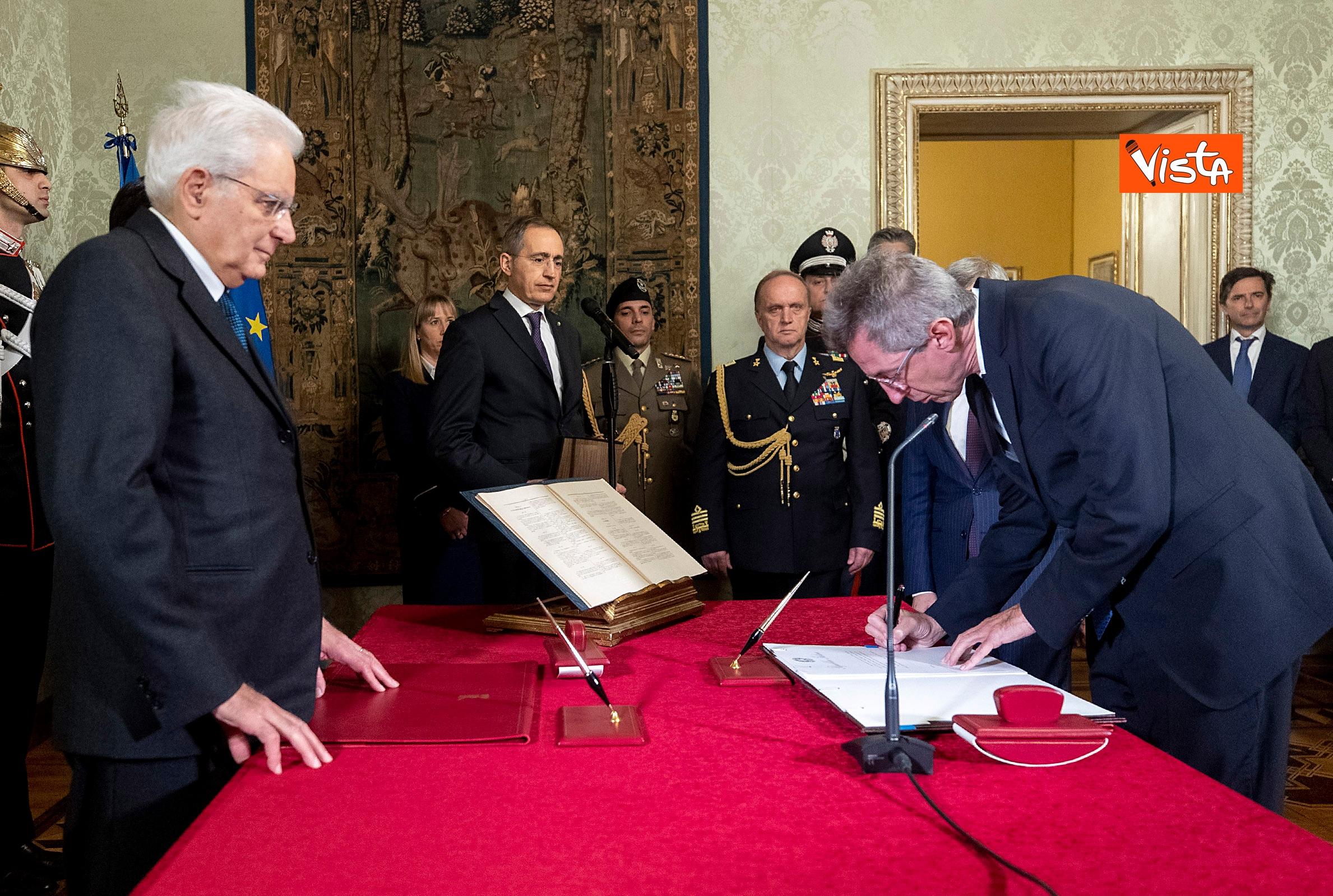 10-01-20 Il giuramento del neo Ministro dell'Istruzione Lucia Azzolina
