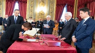 3 - Il giuramento del Ministro per le pari opportunita' Elena Bonetti