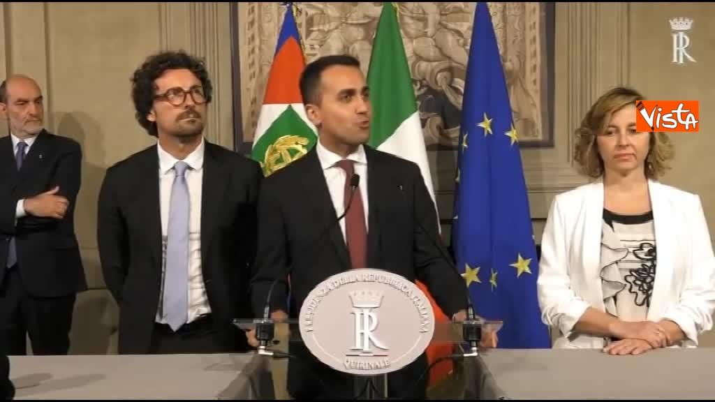 21-05-18 Di Maio guida la delegazione M5s al Quirinale con Toninelli e Giulia Grillo
