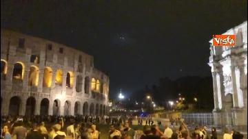 9 - Eclissi luna, dal Colosseo al Gianicolo, Roma presa d'assalto dai turisti
