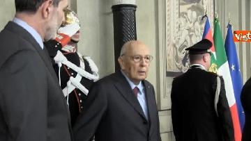 5 - Napolitano dopo il colloquio con Mattarella immagini