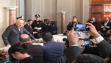 15 - Napolitano dopo il colloquio con Mattarella immagini