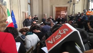 14 - Napolitano dopo il colloquio con Mattarella immagini