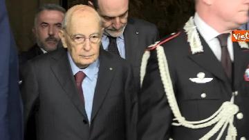 3 - Napolitano dopo il colloquio con Mattarella immagini