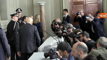 10 - Napolitano dopo il colloquio con Mattarella immagini