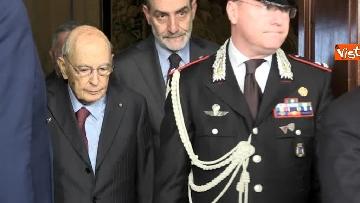 2 - Napolitano dopo il colloquio con Mattarella immagini