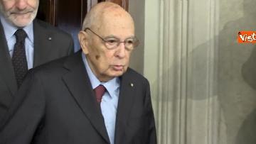 4 - Napolitano dopo il colloquio con Mattarella immagini
