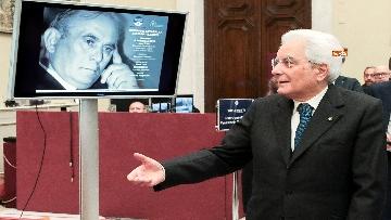 3 - Mattarella alla commemorazione di Giuseppe Tatarella a Montecitorio