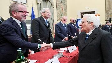 1 - Mattarella alla commemorazione di Giuseppe Tatarella a Montecitorio