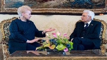 8 - Mattarella ha incontrato la presidente della Lituania al Quirinale