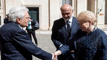 1 - Mattarella ha incontrato la presidente della Lituania al Quirinale