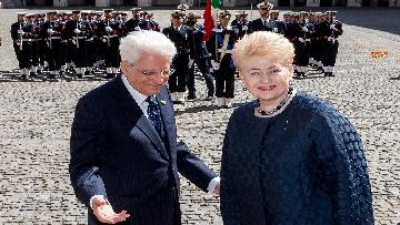 6 - Mattarella ha incontrato la presidente della Lituania al Quirinale