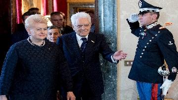 7 - Mattarella ha incontrato la presidente della Lituania al Quirinale